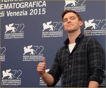 Nicolas Hoult à la Mostra de Venise, le Festival du Cinéma de Venise 2015