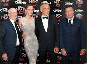 Giovanni Modina, Elisa Sednaoui, Alberto Barbera et Alessandro Salem à la Mostra de Venise, le Festival du Cinéma de Venise 2015