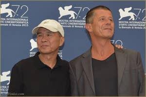 Hou Hsiao Hsien et Emmanuel Carrere à la Mostra de Venise, le Festival du Cinéma de Venise 2015