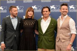 Joel Edgerton, Dakota Johnson, Johnny Depp et Scott Cooper à la Mostra de Venise, le Festival du Cinéma de Venise 2015