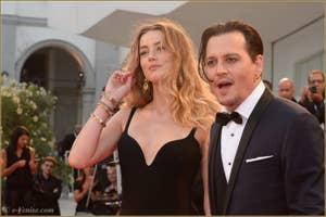Johnny Depp Amber Heard à la Mostra de Venise, le Festival du Cinéma de Venise 2015
