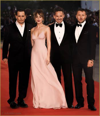 Johnny Depp et Dakota Johnson à la Mostra de Venise, le Festival du Cinéma de Venise 2015