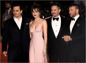 Johnny Depp, Dakota Johnson, Scott Cooper et Joel Edgerton à la Mostra de Venise, le Festival du Cinéma de Venise 2015
