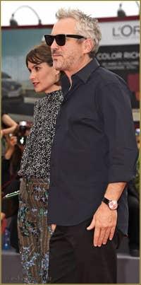 Sheherazade Goldsmith et Alfonso Cuaron à la Mostra de Venise, le Festival du Cinéma de Venise 2015