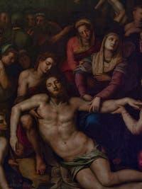 Agnolo Tori il Bronzino, déposition du Christ, huile sur bois, 1561 Galerie de l'Accadémia à Florence en Italie
