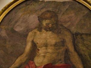 Andrea del Sarto, Christ en Piété, fresque de 1525,  Galerie de l'Accadémia à Florence en Italie