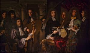 Anton Domenico Gabbiani, Ferdinand de Médici et ses musiciens, huile sur toile, 1685, Musée des instruments de musique de la Galerie de l'Accadémia à Florence en Italie