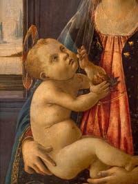 Botticelli, Madone de la Mer, huile sur bois, 1475-1480,  Galerie de l'Accademia à Florence en Italie