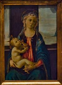 Botticelli, Vierge de la Mer, huile sur bois, 1475-1480,  Galerie de l'Accadémia à Florence en Italie