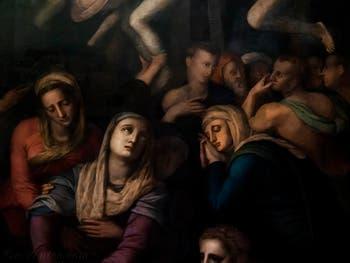 Agnolo Tori il Bronzino, déposition du Christ, huile sur bois, 1561 Galerie de l'Accademia à Florence en Italie