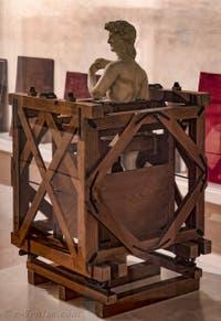 Chariot de transport du David de Michel-Ange Florence Italie