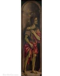 Filippino Lippi, saint Jean-Baptiste, huile sur bois, 1496, Galerie de l'Accadémia à Florence en Italie