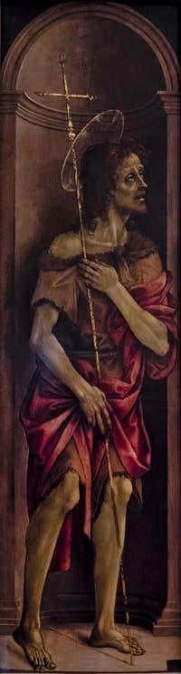 Filippino Lippi, Saint-Jean-Baptiste, huile sur bois, 1496, Galerie de l'Accadémia à Florence en Italie