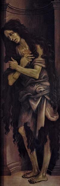 Filippino Lippi, Sainte-Marie-Madeleine, huile sur bois, 1496, Galerie de l'Accadémia à Florence en Italie