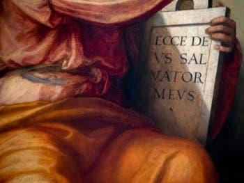 Fra Bartolomeo, le prophète Isaïe, huile sur bois, 1514-1516, Galerie de l'Accadémia à Florence en Italie