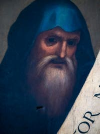 Fra Bartolomeo, le prophète Job, huile sur bois, 1514-1516, Galerie de l'Accadémia à Florence en Italie