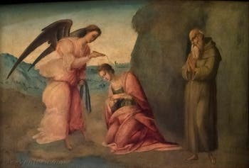 Francesco Granacci, Baptème de Sainte Apollonia, huile sur bois, 1530, Galerie de l'Accadémia à Florence en Italie