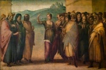 Francesco Granacci, le débat de Sainte-Apollonia, huile sur bois, 1530, Galerie de l'Accadémia à Florence en Italie