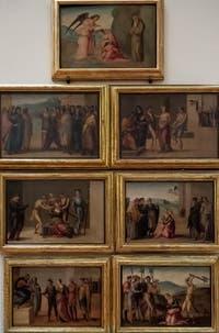 Francesco Granacci, Rétable de Santa Apollonie, Sainte-Apollonia, huile sur bois, 1530, Galerie de l'Accadémia à Florence en Italie