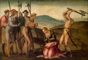 Francesco Granacci, Martyre de Sainte-Apollonia, huile sur bois, 1530, Galerie de l'Accadémia à Florence en Italie