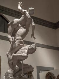 Giambologna, Enlèvement des Sabines, sculpture en plâtre, 1582, Galerie de l'Accadémia à Florence en Italie