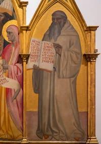 Giovanni del Biondo, Présentation de Jésus au Temple, saint Jean-Baptiste et saint Benoît, détrempe sur bois et or, 1364, Galerie de l'Accadémia à Florence en Italie