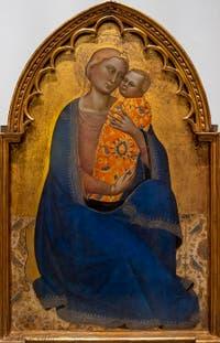 Jacopo di Cione, Madonna dell'Umilta, Vierge de l'humilité, détrempe sur bois, 1365-1370, Galerie de l'Accadémia à Florence en Italie