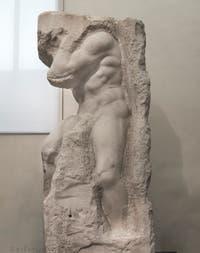 Michel-Ange Buonarroti, Atlas prisonnier, sculpture marbre pour le tombeau du pape Jules II, 1530, Galerie de l'Accademia à Florence Italie