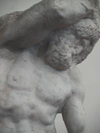 Michel-Ange Buonarroti, Esclave barbu prisonnier, sculpture marbre pour le tombeau du pape Jules II, 1530, Galerie de l'Accademia à Florence Italie