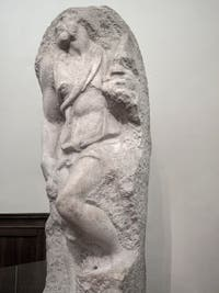 Michel-Ange Buonarroti, saint Matthieu, sculpture en marbre, 1505-1506, Galerie de l'Accademia, Florence Italie