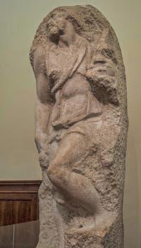 Michel-Ange Buonarroti, Saint-Matthieu, sculpture en marbre, 1505-1506, Galerie de l'Accademia, Florence Italie