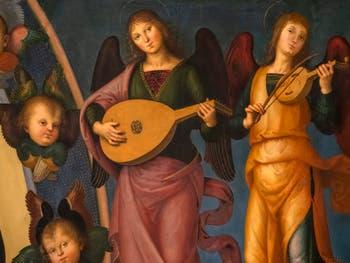 Pietro Perugino, Assomption de la Vierge, huile sur bois, 1500, Galerie de l'Accademia à Florence Italie