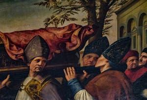Ridolfo del Ghirlandaio, Translation du corps de Saint Zenobe, San Zanobi, huile sur bois, 1516, Galerie de l'Accadémia à Florence en Italie