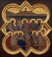 Taddeo Gaddi, Histoire de la vie du Christ et de saint François d'Assise, détrempe sur bois, 1335-1340, Galerie de l'Accademia à Florence Italie