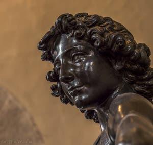 Andrea del Verrocchio, David, Sculpture bronze et or, 1466-1469, Musée du Bargello à Florence Italie
