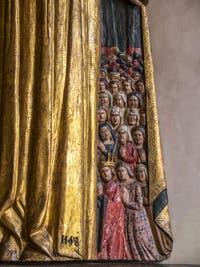 Art d'Ombrie et des Marches, Vierge de la Miséricorde, XVe siècle, Musée du Bargello à Florence Italie