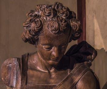 Art Allemand, Archange Michel, XVe siècle, Musée du Bargello à Florence Italie