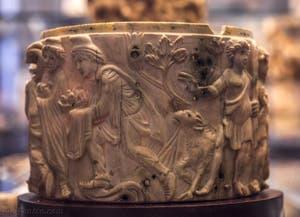 Art Chrétien, Adoration des Mages, VIe siècle, Musée du Bargello à Florence Italie