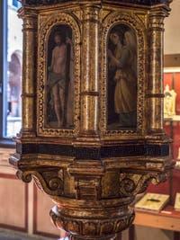 Art Florentin ou Siennois, Ciboire aux armes de la famille Costanzi, moitié du XVIe siècle, Musée du Bargello à Florence Italie