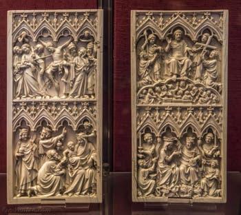 Art Français, Diptyque, Histoire de l'enfance du Christ et de la Passion, XIVe siècle, Musée du Bargello à Florence Italie