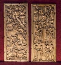 Art Italien, Adam au Paradis terrestre, Scène de la vie de Saint-Paul, Ve siècle, Musée du Bargello à Florence Italie