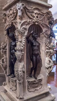Benvenuto Cellini, Jupiter et Minerve, 1553, Musée du Bargello à Florence Italie
