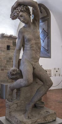 Benevenuto Cellini, Narcisse, 1548-1565, Musée du Bargello à Florence Italie
