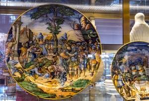 Atelier Fontana Urbino, La Continence de Scipion, 1560, Musée du Bargello à Florence Italie