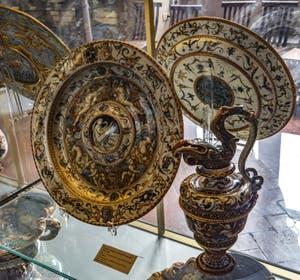 Antonio Patanazzi, Cuvette avec Léda et le cygne, 1580-1600, musée du Bargello à Florence Italie