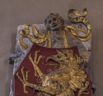 Donatello, Blason aux armes de la famille Martelli, 1455, Musée du Bargello à Florence Italie