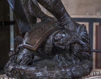 Donatello, David, Sculpture Bronze doré, 1440, Musée du Bargello à Florence Italie