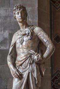 Donatello, David, statue marbre, 1408, Musée du Bargello à Florence Italie