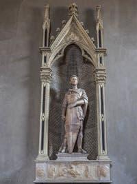 Donatello, Saint-Georges qui tue le dragon et délivre la princesse (prédelle), 1416-1417, Musée du Bargello à Florence Italie