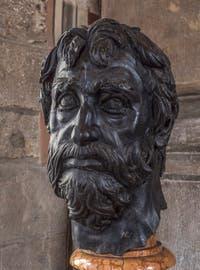 Donatello, Tête d'homme barbu, 1450, Musée du Bargello à Florence Italie